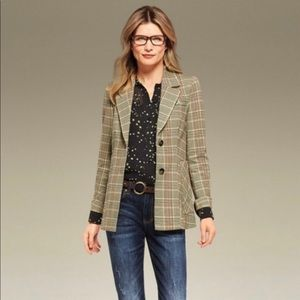 CAbi Pastime Plaid Jacket #3548  Size 2